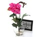 Nearly Natural Mini Vanda with Fluted Vase Silk Flower Arrangement in Beauty