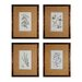 <strong>Branch Studies 4 Piece Framed Graphic Art Set</strong> by Sterling Industries