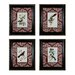 <strong>Sterling Industries</strong> Cuvier Exotic Birds 4 Piece Framed Graphic Art Set