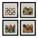 <strong>Sterling Industries</strong> Custom Geometric 4 Piece Framed Graphic Art Set