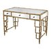 <strong>Sterling Industries</strong> Mirror Top Desk With Bamboo Frame