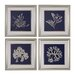 <strong>Sterling Industries</strong> Seaweed on Navy 4 Piece Framed Graphic Art Set