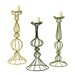 <strong>3 Piece Metal Candle Holder Set</strong> by Sterling Industries
