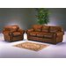<strong>Cheyenne 3 Seat Leather Sofa Set</strong> by Omnia Furniture