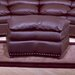 Omnia Furniture Williamsburg Leather Jumbo Ottoman
