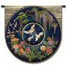 <strong>Fine Art Tapestries</strong> Abstract Cloisonne Lapis by Acorn Studios Tapestry