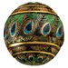 Peacock Feathered Orbs Decorative Accent Balls Figurine