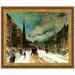 Street Scene with Snow, 1902 Replica Painting Canvas Art