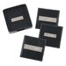 "3"" Engraved Plate Square Coasters in Black"