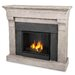 Torrence Cast Mantel Gel Fuel Fireplace