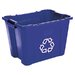 Stacking Rectangular Recycle Bin, 14 Gal