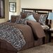 Victoria Classics Embroidered Leaves 8 Piece Comforter Set