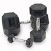 <strong>Muscle Driver USA</strong> Rubber Coated Hex Dumbbells (Set of 2)