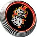"<strong>On The Edge Marketing</strong> Flames 14.75"" Dice Neon Wall Clock"
