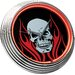 "<strong>Skull 14.75"" Neon Wall Clock</strong> by On The Edge Marketing"