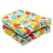 <strong>Paint Splash Wicker Seat Cushion (Set of 2)</strong> by Pillow Perfect