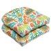 Pillow Perfect Santa Maria Wicker Seat Cushion (Set of 2)