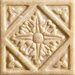 "Romancing the Stone 2"" x 2"" Compressed Stone Diamond Insert in Ivory"