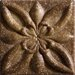 "Romancing the Stone 2"" x 2"" Compressed Stone Floral Insert in Noce"