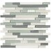 <strong>Crystal Stone II Random Sized Glass Strip Mosaic in Pearl</strong> by Marazzi