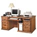 <strong>Martin Home Furnishings</strong> Huntington Oxford Double Pedestal Computer Desk