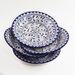 "Le Souk Ceramique Azoura Design 9"" Pasta / Salad Bowl (Set of 4)"