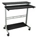 """39"""" Standing Desk with Casters by Luxor"""