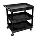 "<strong>Cart Serv Plas 3Tub Black 24""D X 32""W</strong> by Luxor"
