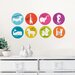 WallPops! Jonathan Adler Menagerie Weekly Dots Dry Erase Wall Decal