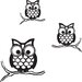 Give a Hoot Small Wall Art Kit