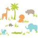 Wall Art Jungle Friends Wall Decal Kit