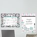 Dry Erase Floral Medley Message Board and Calendar Wall Decal