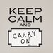 Wall Art Keep Calm Dry Erase Wall Quote Decal
