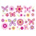 Fun4Walls Stikarounds Flowers and Butterflies Wall Ticket