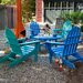 <strong>Classic Folding Conversation 5 Piece Adirondack Seating Group</strong> by POLYWOOD®