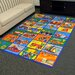<strong>Paradise Multi Alphabets Transportation Rug</strong> by DonnieAnn Company
