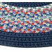 <strong>Thorndike Mills</strong> Pioneer Valley II Olympic Blue with Dark Blue Solids Multi Runner Outdoor Rug