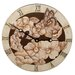 "<strong>Lexington Studios</strong> Home and Garden 10"" Magnolias Wall Clock"