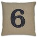 <strong>Numeral 6 Pillow</strong> by DR International