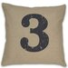 <strong>DR International</strong> Numeral 3  Pillow