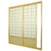 Double Sided Sliding Door Room Divider in Natural