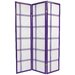 Double Cross Shoji Screen in Purple