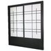 Eudes Shoji Double Sliding Door Kit in Black