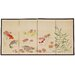 "<strong>24"" x 48"" The 5 Fish Chinese Painting 4 Panel Room Divider</strong> by Oriental Furniture"