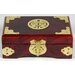 Oriental Furniture Brass Shou Jewelry Box