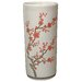 18&quot; Cherry Blossom Umbrella Stand in Off White Crackle