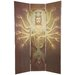 "70.25"" Thousand Arm Kwan Yin 3 Panel Room Divider"