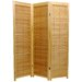Three Panel  Wooden Shutter Screen in Natural