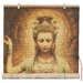 Oriental Furniture Kwan Yin with Lotus Rayon Roller Blind