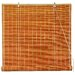 Burnt Bamboo Roll Up Blinds in Honey